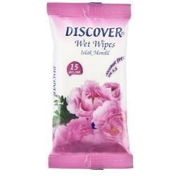 DISCOVER - Discover Islak Mendil 15 Adet (288 ADET VE ÜZERİ)